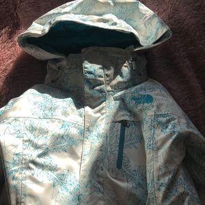 Snowflake print authentic Northface ski jacket